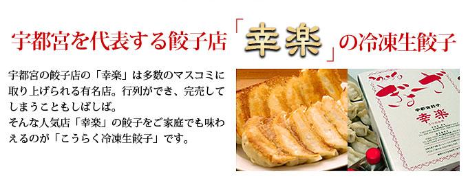 宇都宮・幸楽(こうらく)冷凍生餃子10人前(60個) の説明画像