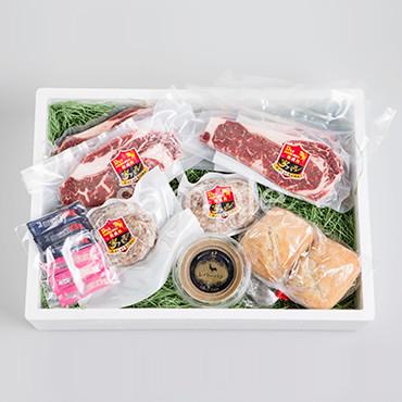 家バル「熟成肉ステーキとハンバーグ&レバーパテセット」 の商品画像